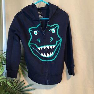 Toddler 4T dinosaur face hoodie